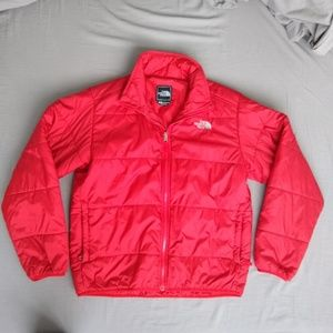 North face synthetic zip up puffer mid jacket